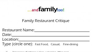 Family Restaurant Critique